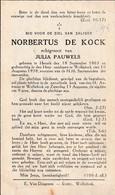 Herselt, Wolfsdonk, 1938, Norbertus De Kock, Pauwels - Imágenes Religiosas