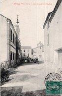 CPA   66   ALENYA---LES ECOLES ET L'EGLISE---1910 - Autres Communes