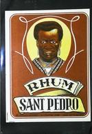 Ancienne Etiquette De Rhum - RHUM SANT PEDRO  - Ets à Roulers  (Belgique) - Rhum