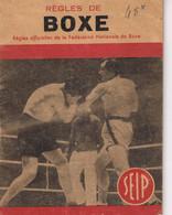 BOXE - REGLES - PETIT LIVRE - - Boeken