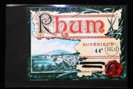 Ancienne Etiquette De Rhum - RHUM SUPERIEUR 44°- Caves Du Perche à Senonches -  SNLC Epernay N°651 - Rhum