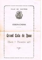 BOXE - PROGRAMME A CASTRES - 1950 - - Boeken