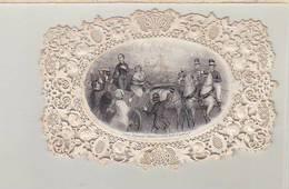 """Royalisme / Bourbons / Image Dentelle / Litho De Alphonse Saintin / Poème """"tourments De L'exil Charmes Du Retour"""" - Other"""