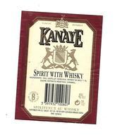 Etiquette - Whisky - Kanaye - Whisky