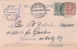 Genzano Di Roma. 1921. Annullo Guller Su Cartolina Postale PUBBLICITARIA ....MATERIALI PER COSTRUZIONI  ... - 1900-44 Vittorio Emanuele III