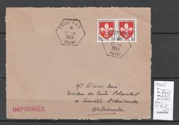 Algerie - Devant De Lettre  - Cachet Hexagonal T'KOUT SAS-  Marcophilie - Briefe U. Dokumente