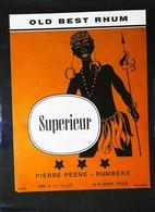 Ancienne Etiquette De Rhum - OLD BEST RHUM - SUPERIEUR -Pierre PEENE -RUMBEKE HR Kort N°9046 Imp. Krugmann - Rhum