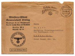 Ministerpräsident Generaloberst Göring Dienstbrief Berlin 1937 - Covers & Documents