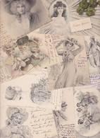Lot 2353 De 10 CPA Illustrateurs Vienne Viennoise Femme Women Déstockage Pour Revendeurs Ou Collectionneurs - 5 - 99 Postales