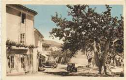 La Bastide Sur L'Hers (Ariège) Place Du Temple Belles Voitures D' Epoque Boulangerie Patisserie RV - France