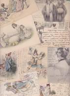 Lot 2355 De 10 CPA Illustrateurs Vienne Viennoise Femme Women Déstockage Pour Revendeurs Ou Collectionneurs - 5 - 99 Postales