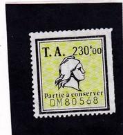 T.F Amendes N°16A - Steuermarken