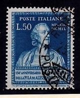 1949 Italia  Italy Repubblica ALESSANDRO VOLTA 50L Azzurro Usato USED - 6. 1946-.. República