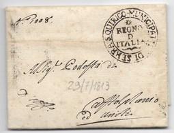 PERIODO NAPOLEONICO - DA SERRA SAN QUIRICO A CASTELPLANIO - 29.7.1813. - ...-1850 Préphilatélie