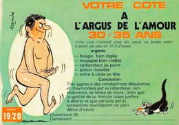 HUMOUR SEXY Par ALEXANDRE / VOTRE COTE A L'ARGUS DE L'AMOUR - 30-35 ANS - Humor