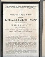PK 53/   ° DENDERWINDEKE ?   + ENGHIEN   1908   MELANIE  RAPP - Religion & Esotérisme