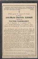 PK 53/   ° ENGHIEN 1858 + 1899  JULIE MARIA  GODAUX - Religion & Esotérisme