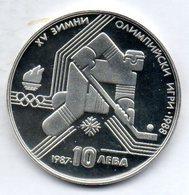 BULGARIA, 10 Leva, Silver, Year 1987, KM #184 - Bulgarije