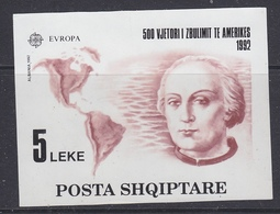 Europa Cept 1992 Albania M/s ** Mnh (47805) - Europa-CEPT