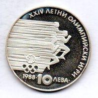 BULGARIA, 10 Leva, Silver, Year 1988, KM #185 - Bulgarije