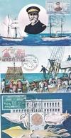 """MONACO  -  Lot De 8 Cartes Du Musée Océanographique - Illustrateur """" J.C. ROUX """" - Oblitération En 1960 - Philatelie - Oceanographic Museum"""