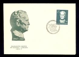 YUGOSLAVIA 1962 - Commemorative Envelope With Image Of TITO And Stamp With Image TITO And Commemorative Cancel. - 1945-1992 Sozialistische Föderative Republik Jugoslawien