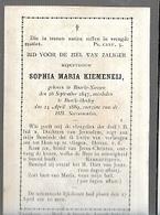 PK 57/   °  BAARLE NASSAU  1847 + BAARLE HERTOG 1889   SOPHIA KIEMENEIJ - Religion & Esotérisme