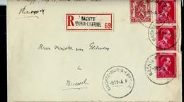 Doc. De BACHTE - MARIA - LEERNE  09/11/44 En Rec. - Poststempel