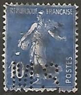 FRANCE N° 279  PERFORE OBLITERE - Perforés