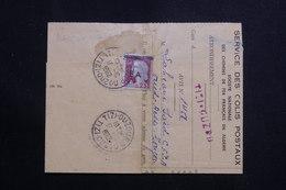 ALGÉRIE - Avis De Colis Postal De Tizi Ouzou En 1962 Affranchissement Decaris Surchargé EA ( Etat Algérien ) - L 61163 - Algerien (1962-...)