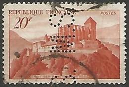 FRANCE N° 841A PERFORE OBLITERE - Perforés
