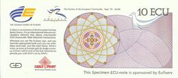 BILLET 10 ECU EXPO SEVILLE 92 - Specimen
