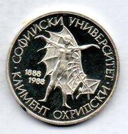 BULGARIA, 20 Leva, Silver, Year 1988, KM #173 - Bulgarije