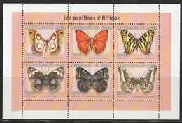 NIGER - N°1517/22 ** (2000) Papillons - Niger (1960-...)