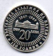 BULGARIA, 20 Leva, Silver, Year 1989, KM #183 - Bulgarije