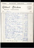 Facture (44) Loire-Atlantique Quilly Gilbert Olichon Forge - 1950 - ...