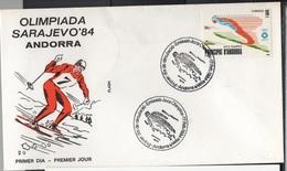JO84-H/L4 - ANDORRE FDC. Jeux Olympiques Sarajevo 1984 - FDC