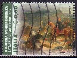 ITALIA REPUBBLICA ITALY REPUBLIC 2011 UNITA' D'ITALIA FATTI D'ARME BATTAGLIA DEL VOLTURNO € 0,60 USATO USED OBLITERE' - 6. 1946-.. Repubblica