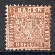 BADE - YT N° 15 - Neuf * - Cote: 120,00 € - Baden