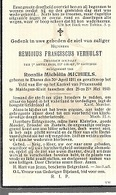 PK 54/ GESNEUVELD WO II:     ° EKEREN 1911 + MALDEGEM KLEIT 1940 REMIGIUS VERHULST - Religion & Esotérisme