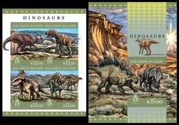 SOLOMON Isl. 2016 - Dinosaurs - YT CV=33 €, 3177-80 + BF543 - Stamps