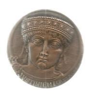 Médaille , NOTORIAT FRANCAIS , CAISSE DES DEPOTS , JUSTINIEN 1 Er ,527-565 , R. Andrei, 2 Scans , Frais Fr 4.95 E - Firma's