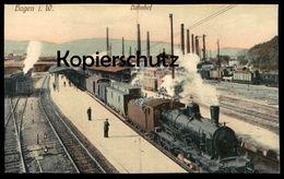 ALTE POSTKARTE HAGEN WESTFALEN BAHNHOF LOKOMOTIVE DAMPFLOK Steam Train Locomotive à Vapeur Station Gare Postcard Cpa AK - Estaciones Con Trenes