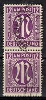 """D+ Deutschland 1945 Mi 7 """"M"""" GH - Zona Anglo-Américan"""
