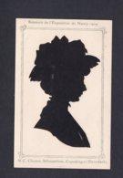 Souvenir De L' Exposition De Nancy 1909 Silhouette Femme Découpée Par Clausen Silhouettiste Copenhague Ref 41749 - Siluette