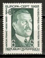 Austria 1983 / Europa CEPT Famous People Viktor Franz Hess MNH Celebridades / Ks30  4-28 - Europa-CEPT
