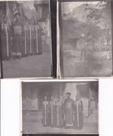 3 Photographies Militaire Français + Groupe Ethnique Au Tonkin Indochine Vietnam Militaria Asie - Personnes Anonymes