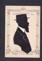 Souvenir Artistique 1909 Silhouette Homme à Barbe Chapeau  Découpée Par G. Dixy  Silhouettiste Monte Carlo Ref 41750 - Silhouettes