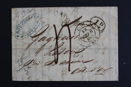 1841 LAC LYON CAD 12/02/1841 POUR BEAUNE CAD ARRIVEE DU 13/02/1841 TAXE MANUSCRITE 4 DECIMES.MARQUE RURALE  I.d - 1801-1848: Vorläufer XIX