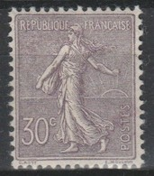 FRANCE N°133 30c Lilas NEUF * TTB, (Centrage Parfait + 100%) - 1903-60 Semeuse A Righe